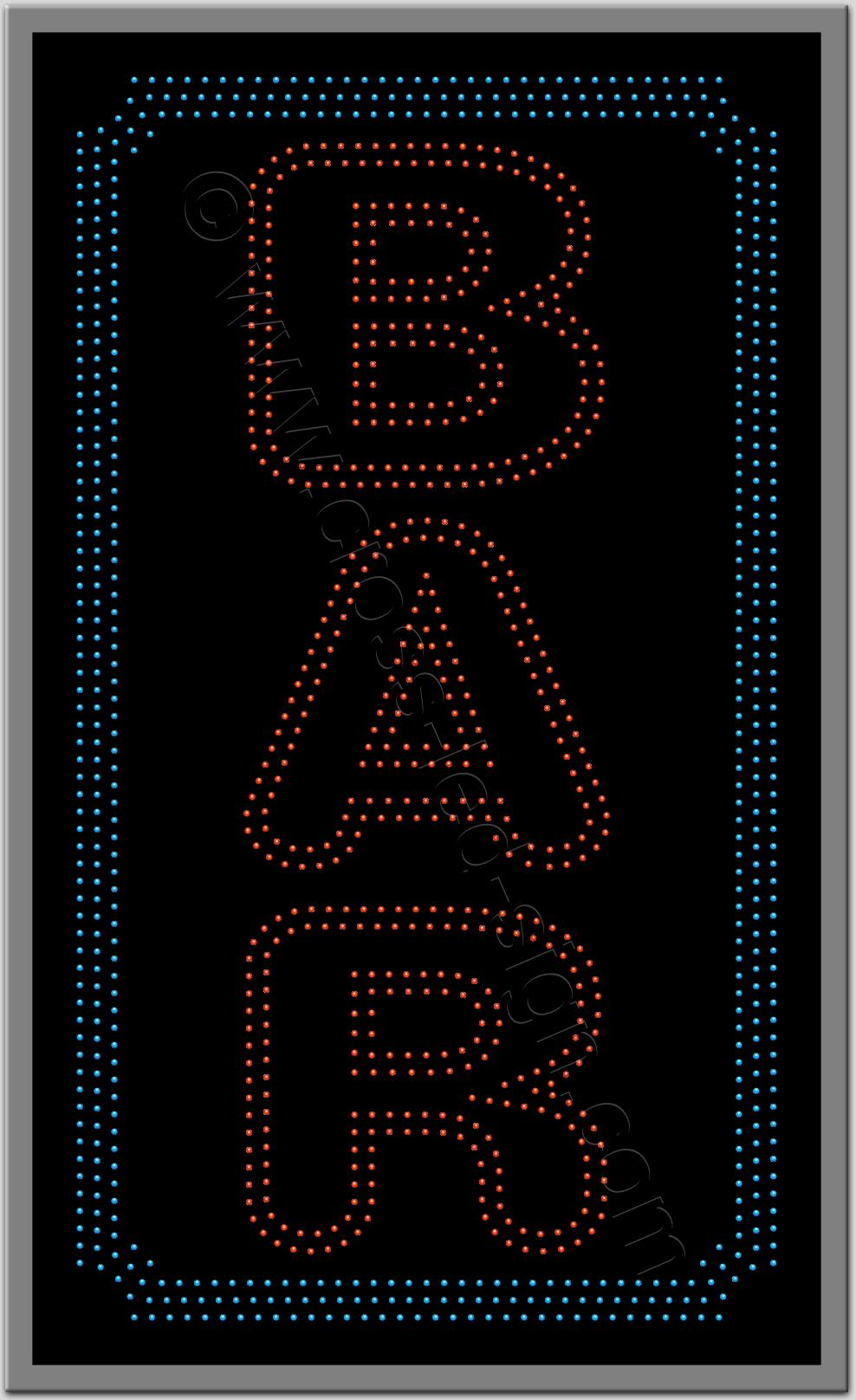 Μεγάλη κατακόρυφη επιγραφή led για bar.
