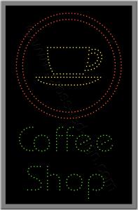 Επιγραφή εστιατορίου Coffee shop, επιγραφή εστίασης με τεχνολογία led.