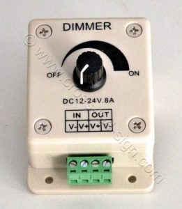 Υλικά επιγραφών led dimmer led 12-24V 8A.