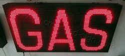 Πινακίδες βενζινάδικων led 96 x 48 εκατοστά με ένδειξη gas μεγάλο.