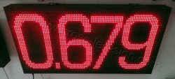 Πινακίδες βενζινάδικων led 96 x 48 εκατοστά με ένδειξη τιμής 4 ψηφίων.