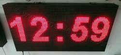 Πινακίδες βενζινάδικων led 96 x 48 εκατοστά με ένδειξη ρολόι.