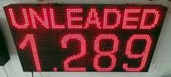 Επιγραφές βενζινάδικων led 96 x 48 με ένδειξη τιμής unleaded.