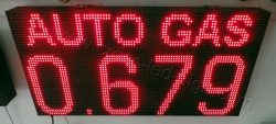 Πινακίδες βενζινάδικων led 96 x 48 εκατοστά με ένδειξη τιμής autogas.