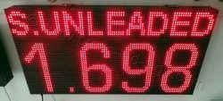 Πινακίδες βενζινάδικων led 96 x 48 εκατοστά με ένδειξη τιμής s.unleaded.