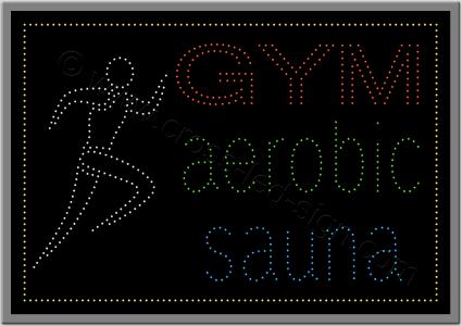 Επιγραφές καταστημάτων led γυμναστήριο 3w.