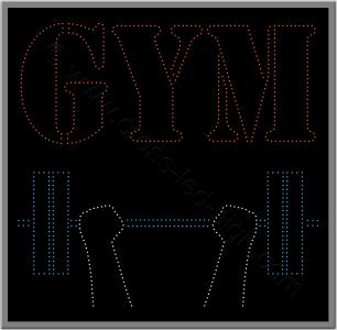 Επιγραφές καταστημάτων led γυμναστήριο 4w.