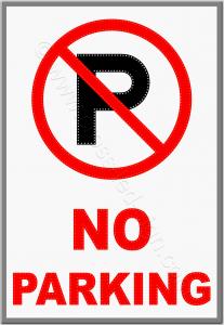Επιγραφές καταστημάτων led no parking 1w.