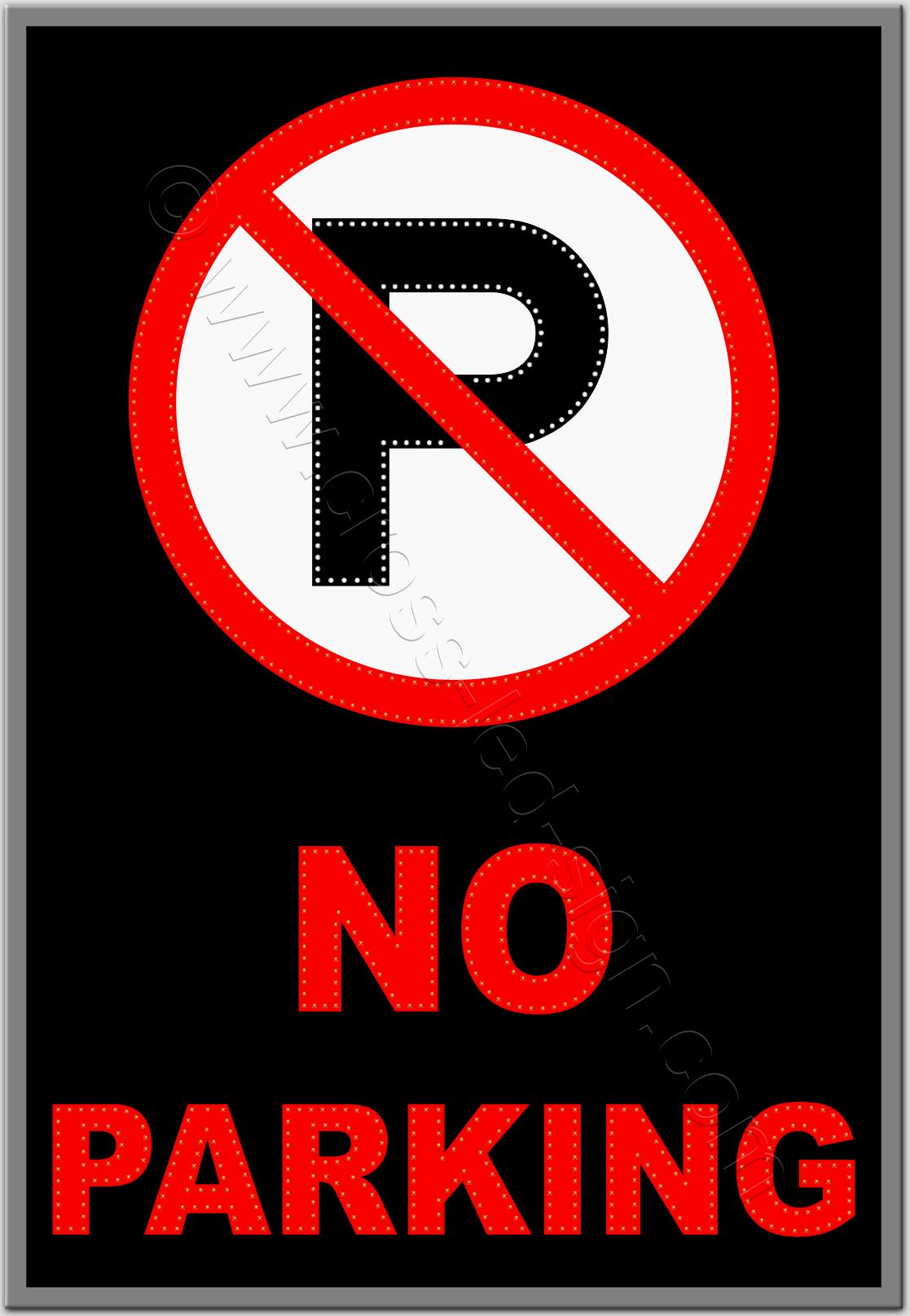 Επιγραφές καταστημάτων led no parking 4w.