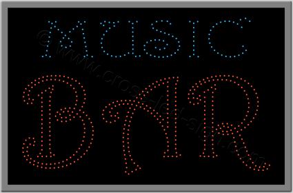 Επιγραφές για καφετέριες music bar με λαμπάκια led.