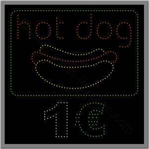 Επιγραφή εστίασης led, για hot dog.