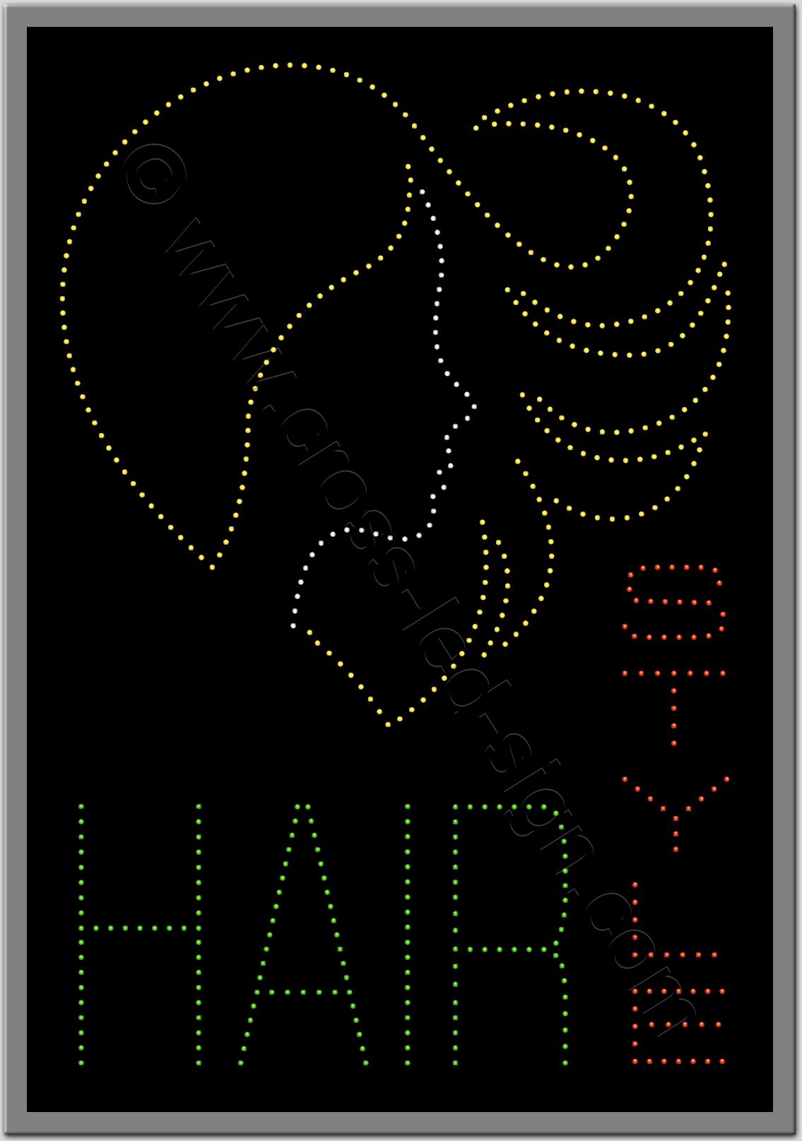 Επιγραφή κοπέλα καρδιά με led, για κομμωτήριο.