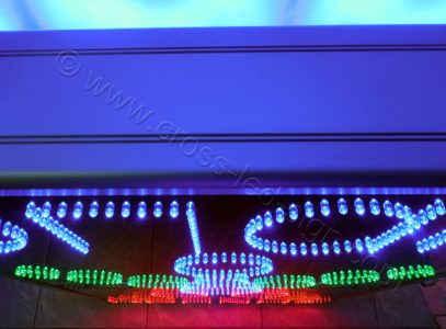Κατασκευή με πυκνή διάταξη led επιγραφές ΟΠΑΠ - 12.