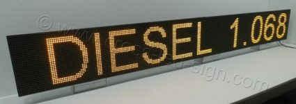 Πινακίδες led πρατηρίων 256 x 32 εκατοστά με ένδειξη diesel 1.068.