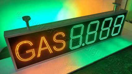 Χαμηλές τιμές σε επιγραφές led για βενζινάδικα, από βιοτεχνία στην Θεσσαλονίκη.