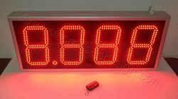 Επιγραφή led ψηφία τιμών για βενζινάδικο 80 x 34 εκατοστά.