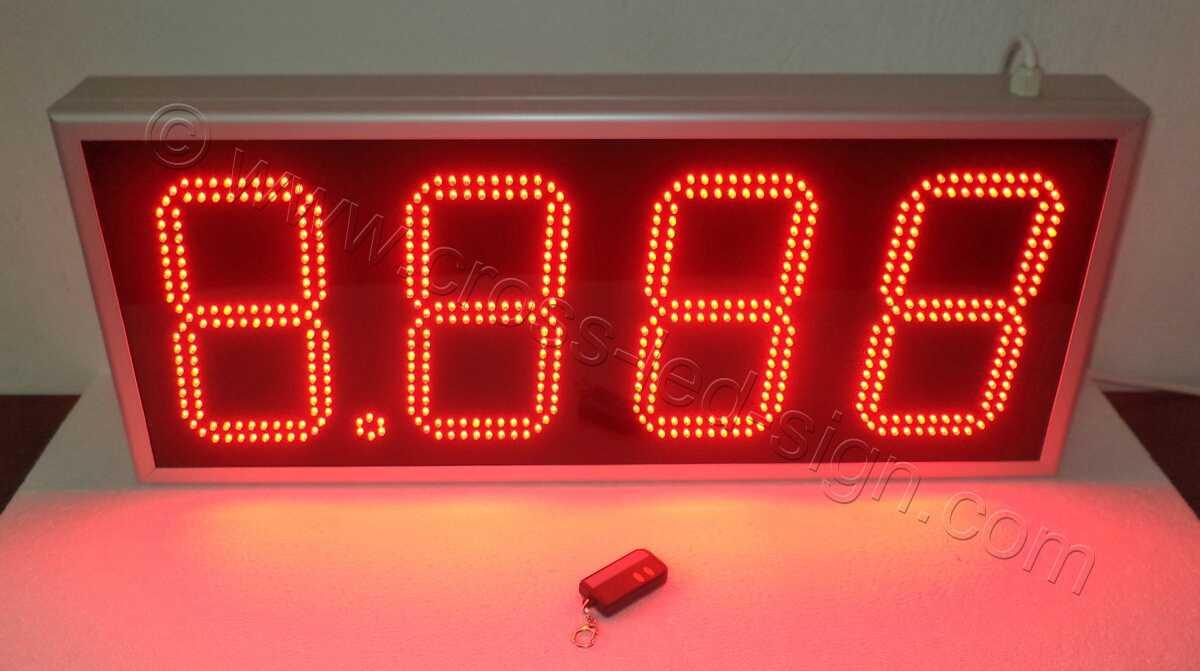 Επιγραφή led ψηφία τιμών για βενζινάδικο 80Χ34 εκατοστά.