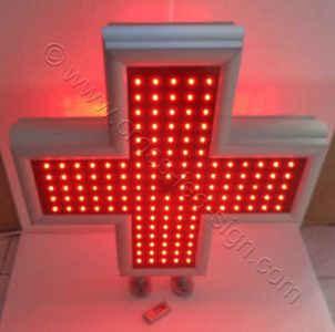 Κόκκινος σταυρός ιατρείου led 70 x 70 εκ. Model: LC70C - Red.
