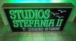 Επιγραφές led studios.