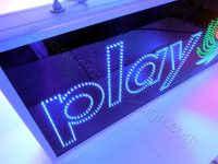 Επιγραφή ΟΠΑΠ play μπλε led.