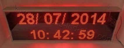 Ηλεκτρονική επιγραφή 167Χ55 εκ. ένδειξη ώρας ημερομηνίας στον βασικό εξοπλισμό.
