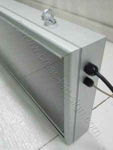 Άψογο φινίρισμα, πλαίσιο ανοδιωμένου αλουμινίου, ηλεκτρονικής επιγραφής led 167 X 39 εκατοστών.