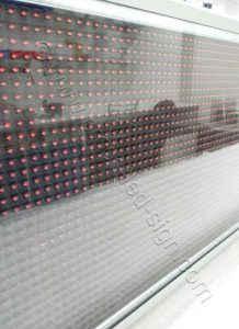 Πολυκαρβονικό κάλυμμα ηλεκτρονικής επιγραφή led 167 X 39 εκ. με φίλτρα UV.