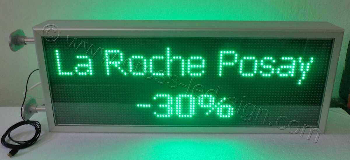 Ηλεκτρονικές επιγραφές με πράσινα led 103x39 εκ.