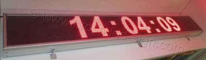 Ηλεκτρονικές επιγραφές led 295x39 με ένδειξη ρολόι.