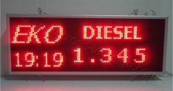 Ενδείκτης τιμών καυσίμων, επιγραφή led 103 x 39 εκ. για βενζινάδικα.