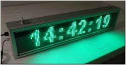 Ηλεκτρονικές επιγραφές ταμπέλες - led-24 ρολόι με δευτερόλεπτα.