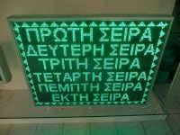 Ηλεκτρονικές πινακίδες led, ένδειξη σειρών.