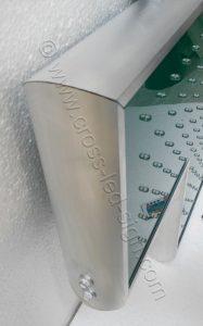 Ηλεκτρονικός σταυρός φαρμακείου 70 εκ. πλαίσιο από αλουμίνιο, σε φυσικό χρώμα.