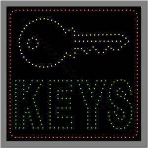 Μικρή επιγραφή led keys με κλειδί.