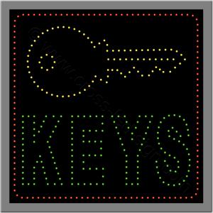 Επιγραφή κλειδαρά led μικρή επιγραφή led keys με κλειδί.