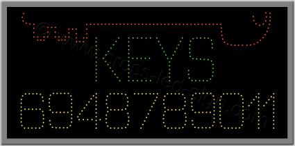 Επιγραφή κλειδαρά led μισό μεγάλο κλειδί, επιγραφής led keys.