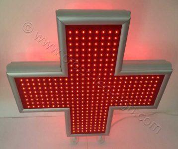 Σταυρός ιατρείου led 100 x 100 εκατοστών.
