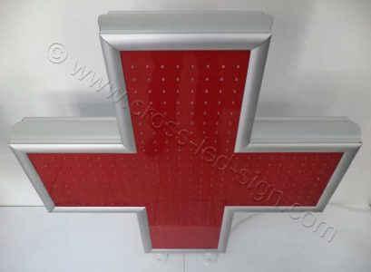 Σταυρός ιατρείου led 100 x 100 εκ. με ακρυλική οθόνη μεγάλης αντοχής.