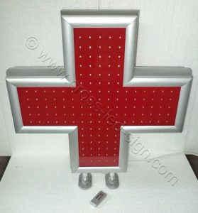 Κόκκινος σταυρός ιατρείου led 70 x 70 εκατοστών, με άριστη ποιότητα κατασκευής.