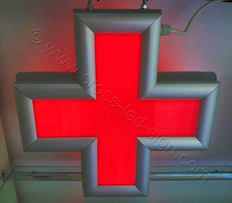 Κόκκινος σταυρός led για ιατρεία 45 Χ 45 εκατοστά.