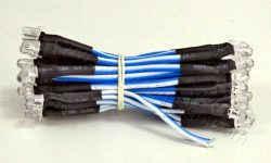 Μπλε καλωδιωμένα led 5mm σετ 60 τεμαχίων.