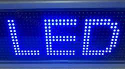 LED module μπλε 32 x 16 pixels.