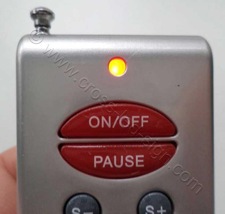 Σε κάθε πίεση, ανάβει το ενδεικτικό led που βρίσκεται πάνω από το πλήκτρο ON/OF.
