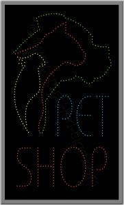 Επιγραφές pet shop σκύλος, γάτα, παπαγάλος με λαμπάκια led.