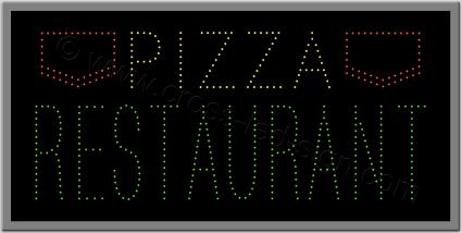 Πινακίδες καταστημάτων led pizza 1w.