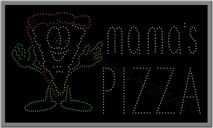 Πινακίδες καταστημάτων led pizza 2w.