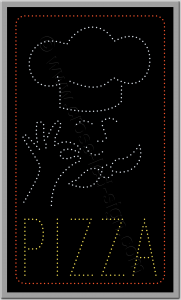 Πινακίδες καταστημάτων led pizza 3w.