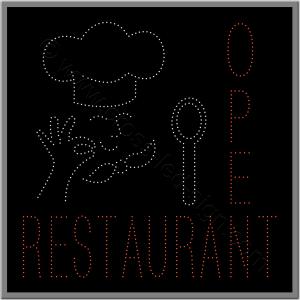 Πινακίδες καταστημάτων led restaurant 2w.