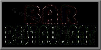 Πινακίδες καταστημάτων led restaurant bar 1.
