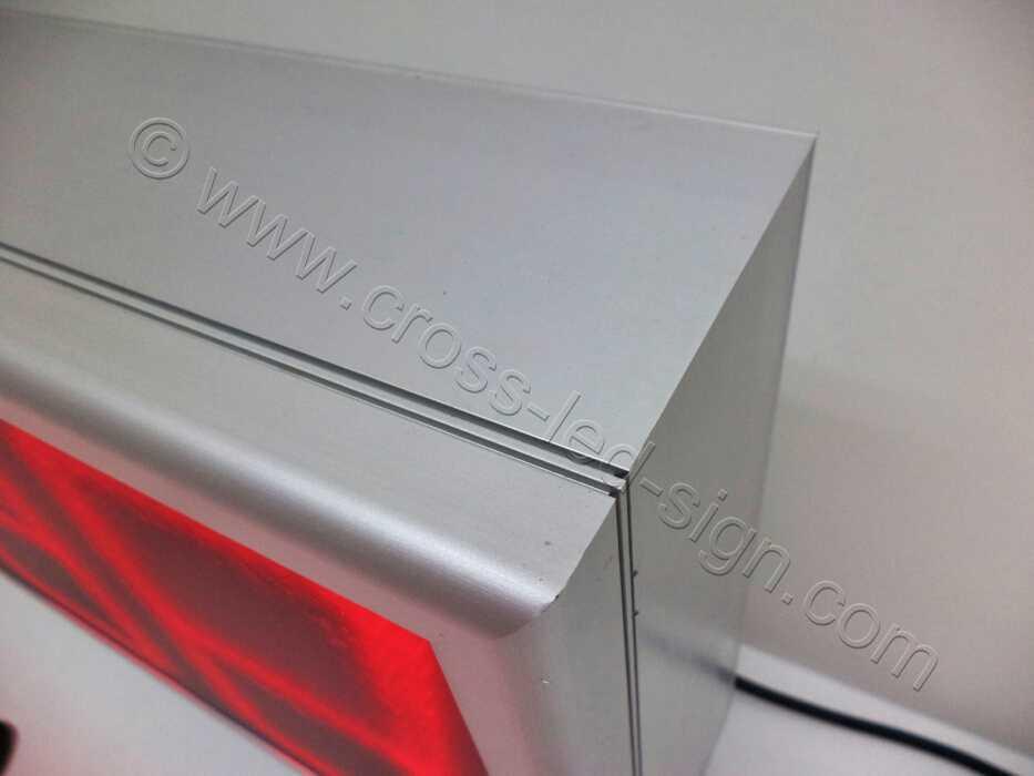 Προφίλ επιγραφής led μονής όψεως, από ανοδιωμένο αλουμίνιο.